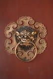 Door knocker. Chinese bronze lion head door knocker stock photography