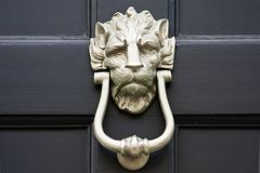Door knocker close up Stock Image