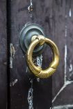 Door knocker. Close up detail view at door knocker Royalty Free Stock Images