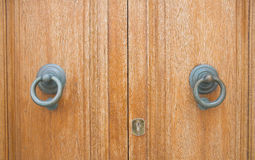 Door knocker couple. Royalty Free Stock Photos
