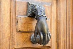 Door knocker. Detail of door knocker on a building exterior royalty free stock photography