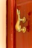 Door knocker. Exquisite door knocker of old Maltese house in Mdina Stock Image