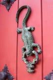 Door knocker Iguana shaped. At Cartagena de Indias Stock Image