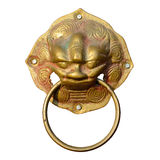 Door knocker isolated Royalty Free Stock Images