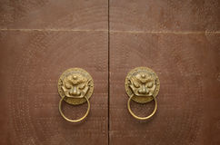 Door Knocker Lion Head Stock Image