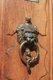 Door knocker - lion - snake Royalty Free Stock Image