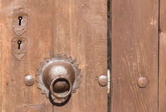 Door knocker and Lock Royalty Free Stock Images