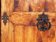 Door knocker and locker Stock Image