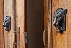 Door Knocker. Old door knocker on ancient doors in Tallinn, Estonia Royalty Free Stock Photography