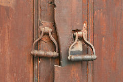Door knocker on the old gate Stock Image