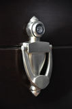 Door knocker with peep hole Stock Images