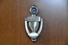 Door knocker with peep hole Royalty Free Stock Photo