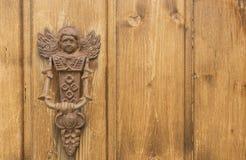 Door knocker rusty angel Stock Photos
