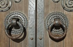 Door knockers, Lisbon cathedral Royalty Free Stock Photography