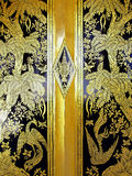 Door knot pattern of temple at Nonthaburi Thailand. Royalty Free Stock Photos