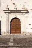 Door in La Anunciada baroque monastery Royalty Free Stock Images