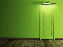 The door and a lamp Royalty Free Stock Photography