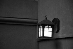 Door lamp on the wall. On a brownstone apartment building Royalty Free Stock Photo