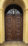Door with lantern Royalty Free Stock Photography