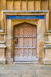Door leading to Bodleian Library, Oxford, UK Stock Photography