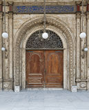 Door leading to the courtyard of The Great Mosque. One of the doors leading to the courtyard of The Great Mosque of Muhammad Ali Pasha (Alabaster Mosque) Stock Images