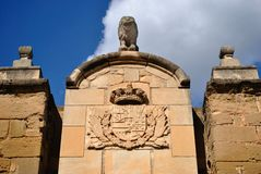 Door of the Lions in lleida Stock Photos
