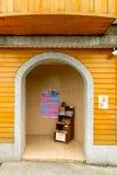 The door of little shop in Jiufen Village ,Taiwan. Taiwan - Apr 15, 2017, Editorail use only; The door of little shop in Jiufen Village ,Taiwan stock photography