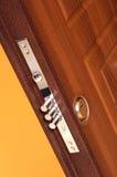 Door lock. Safety lock at the steel home door Stock Images