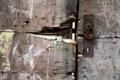 Door with lock Royalty Free Stock Photo