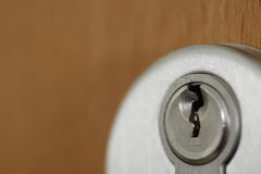Door lock 2. A door lock taken with a macro lens Royalty Free Stock Photo