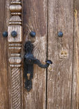Door lock. Ancient church door from Cyprus Stock Images