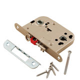 Door lock assembly on White Background Stock Images