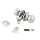 Door lock assembly on White Background Royalty Free Stock Image