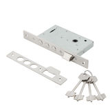 Door lock assembly on White Background Stock Photography