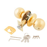 Door lock assembly on White Background Stock Photos