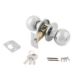 Door lock assembly on White Background Royalty Free Stock Photo