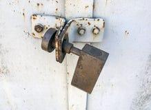 Door with lock Royalty Free Stock Photos