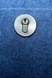 Door lock and a blue door Royalty Free Stock Image