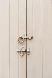 Door lock and bolt Royalty Free Stock Photo