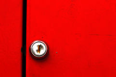 Door lock. With copy space stock photo