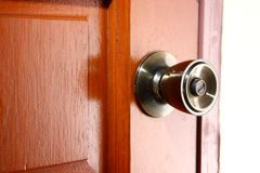Door lock and door knob Stock Photography