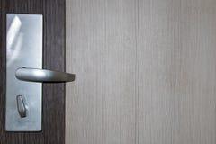 Door and lock. Exterior door handle and Security lock. Architecture, knocking stock photos