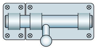 Door lock fastening. Illustration of the door lock fastening icon Stock Images