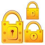 Door lock from gild. Vector illustration lock for door from gild on white background vector illustration
