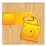Door and lock gold Stock Images