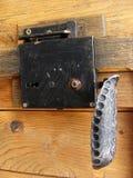 Door lock and handle Royalty Free Stock Photo