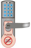 Door lock with information Royalty Free Stock Photo