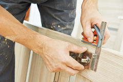 Free Door Lock Installation Stock Photos - 52013493