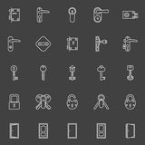 Door lock and key icons Stock Image