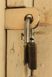 Door Lock. The key lock for security, prevention of loss, theft protection, and much more Stock Photo